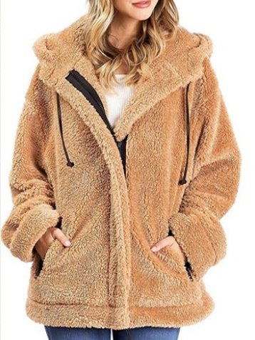 Women Warm Coat Casual Teddy Bear Camel Shift Outerwear Oversized-Top-Wotoba-Camel-S-Wotoba