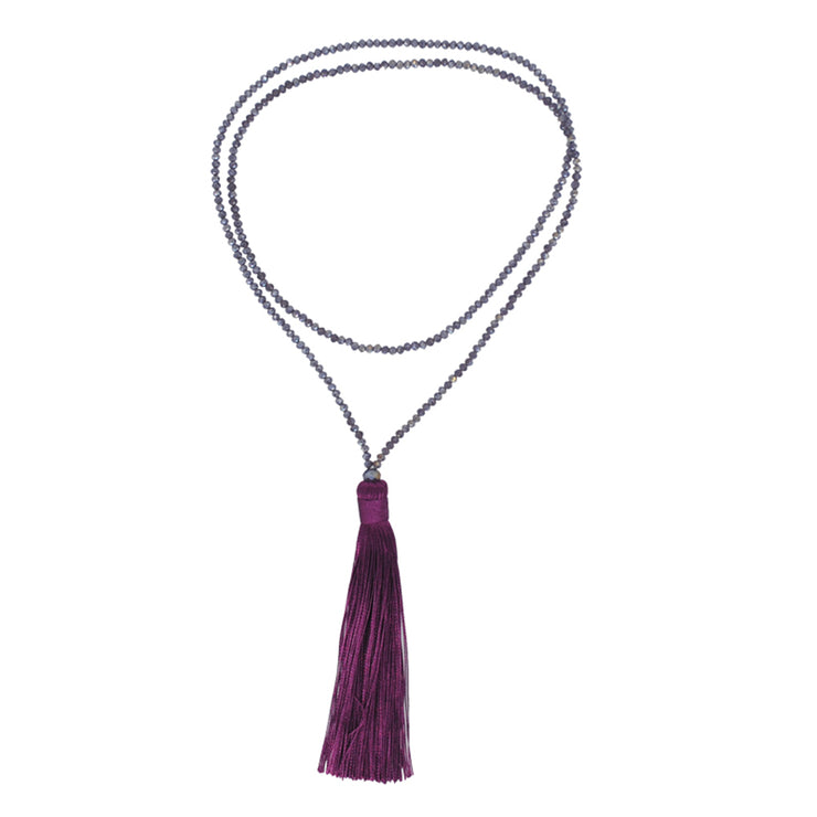 Bohemian Tassel Pendant Crystal Necklaces-ACC-Wotoba-Purple-One-size-Wotoba