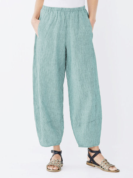 Daily Plus Size Pockets Cotton Linen Pants-Bottom-Wotoba-Lake Blue-S-Wotoba