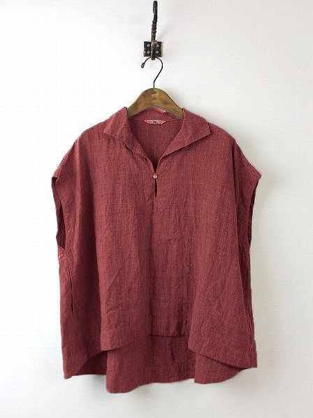Daily Sleeveless Solid Cotton Casual Shift Buttoned Top-TOPS-Wotoba-WINE RDE-S-Wotoba