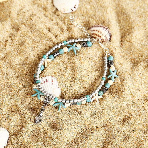 Women Fashion Conch Anklets-Accessories-Wotoba-Green-One-size-Wotoba