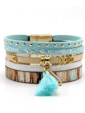 Alloy Bracelets-Accessories-Wotoba-Light Blue-One-size-Wotoba