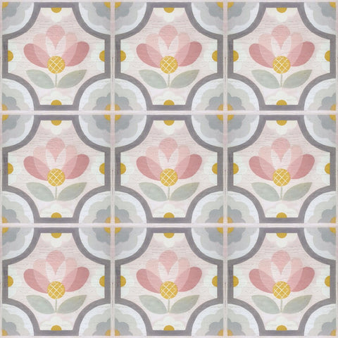 Blush Blossom Peel & Stick Decorative Floor Decals
