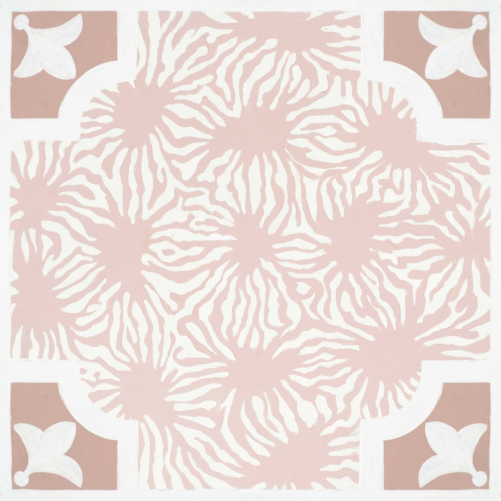 Blushing Blooms Hardwood Tile
