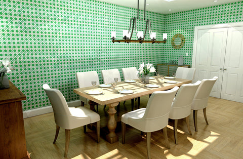 CocoCozy's Cane Kelly Green Wallcovering