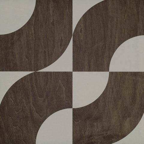 Centro Ebony White Hardwood Tile