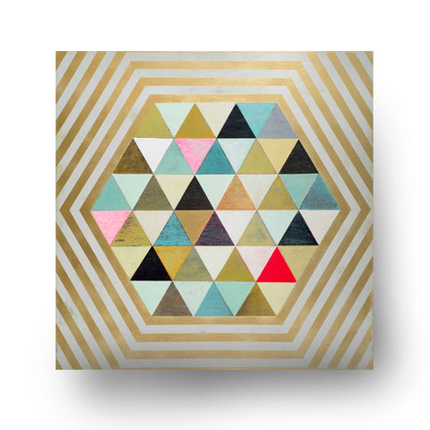 Gilded Kaleidoscope Wall Art