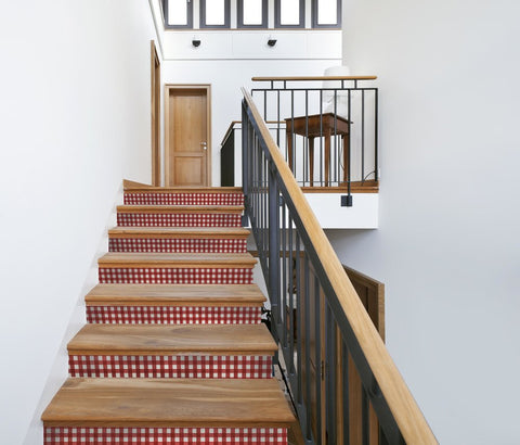 Gingham Stair Riser Decal