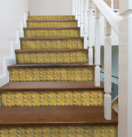 Lively Celery Stair Riser Decals