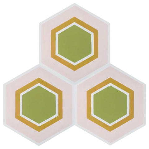 Bennett Hexagon Peel & Stick Decorative Floor Decals
