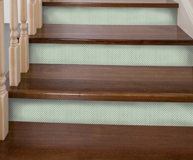 Polka Dot Mint Stair Riser Decal