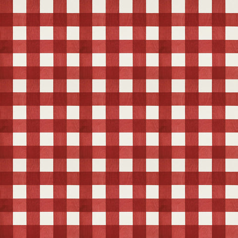 Gingham Red Hardwood Tile