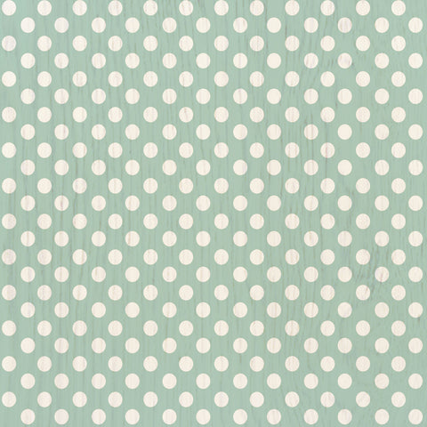 Polka Dot Mint Hardwood Tile
