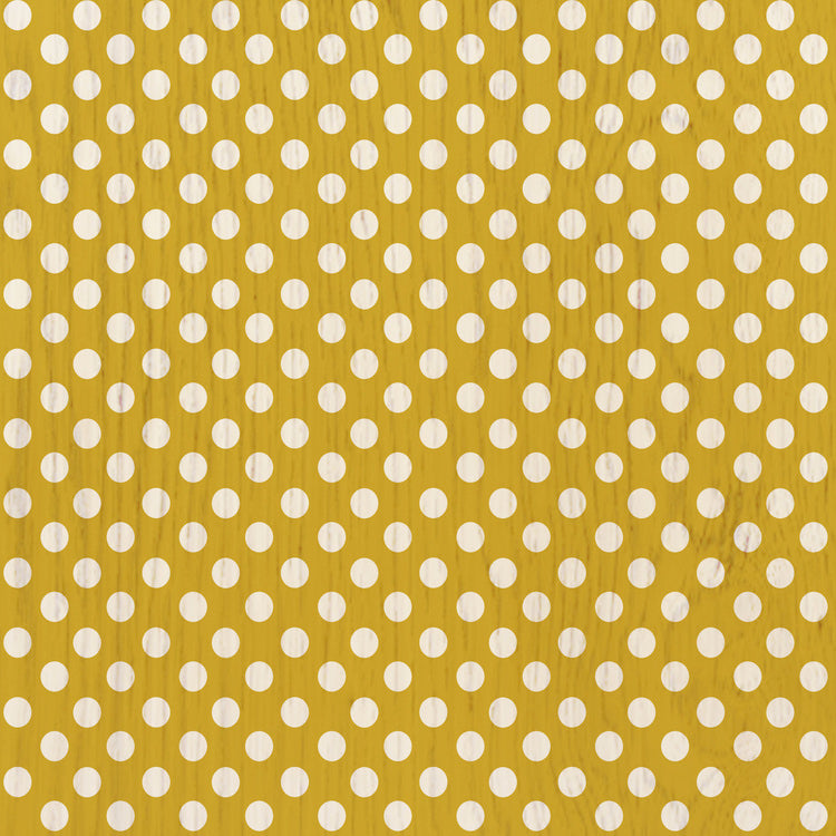 Polka Dot Mustard Peel & Stick Decorative Decals