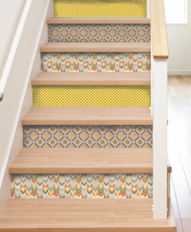 Mirthful Stair Riser Decal Multi Pack