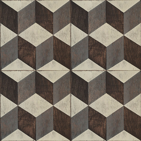 Tumbling Blocks Peel & Stick Decorative Floor Decals