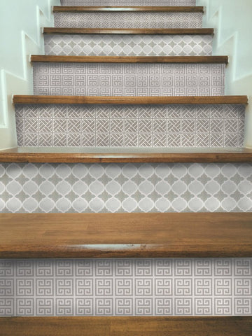 Gray Stair Riser Decal Multi Pack