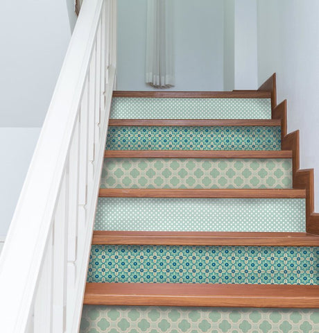 Mint Stair Riser Decal Multi Pack