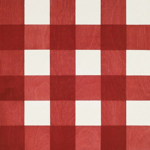 Gingham Red Hardwood