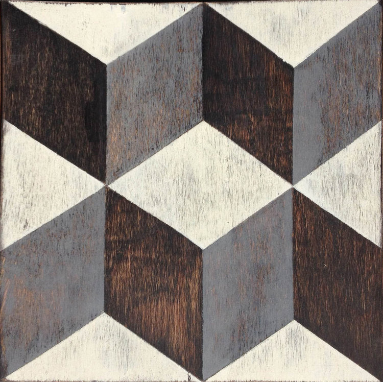 Tumbling Blocks Hardwood Tile