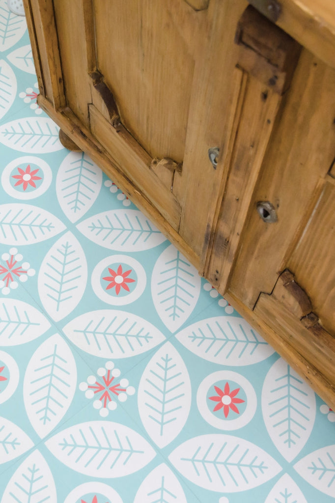Flower Folk Peel & Stick Decorative Floor Decals