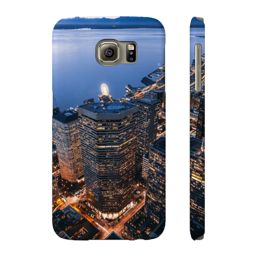 SKYSCRAPERS & MOUNTAINS PHONE CASE