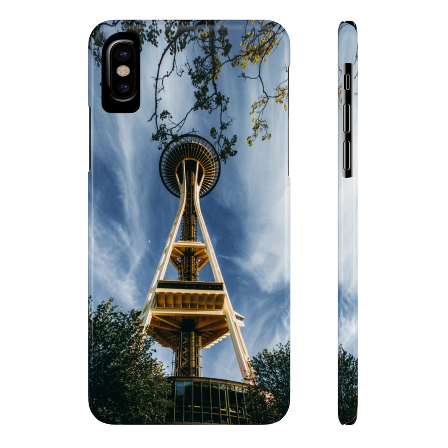 SPRING SPACE NEEDLE PHONE CASE