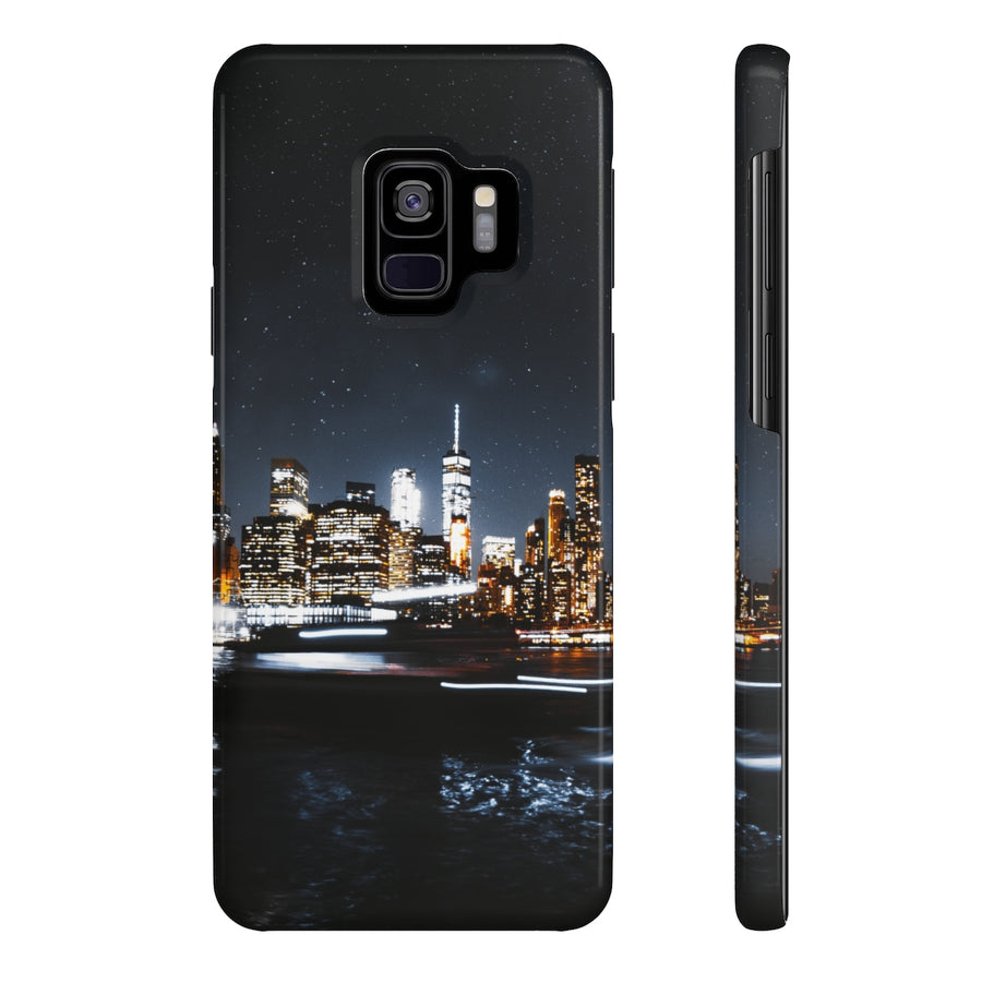 NYC NIGHT SKYLINE PHONE CASE