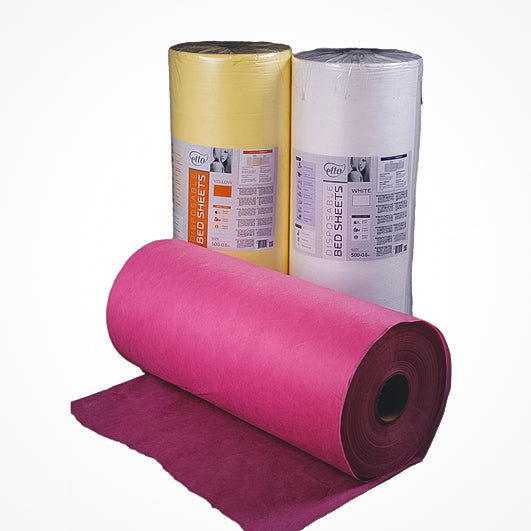 Disposable Non Woven Jumbo Couch Rolls 0.6X500M - Pink