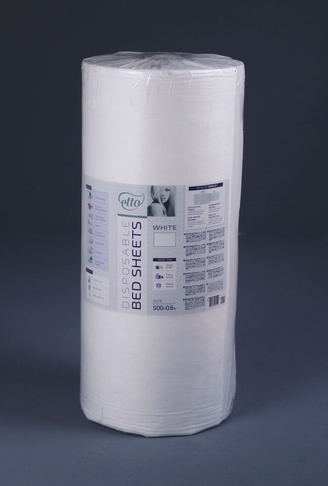 Disposable Non Woven Jumbo Couch Rolls 0.6X500M - White