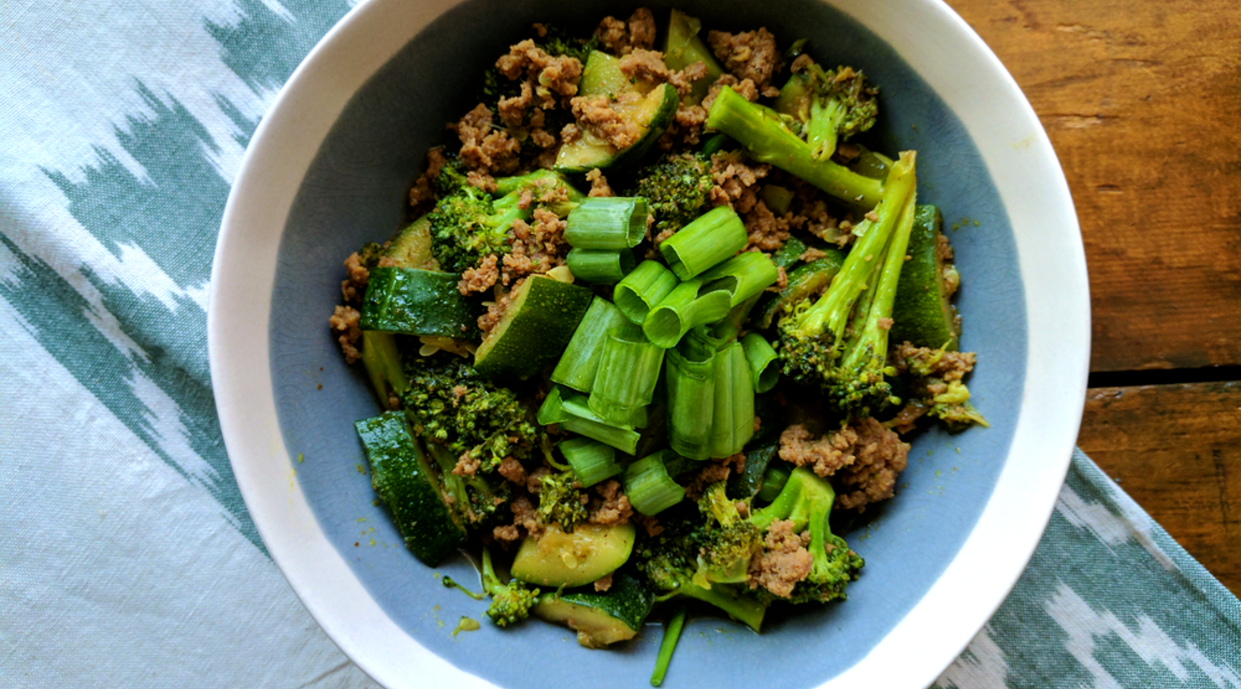 Food from the Farm: Summer Vegetable Ground Beef Stir Fry