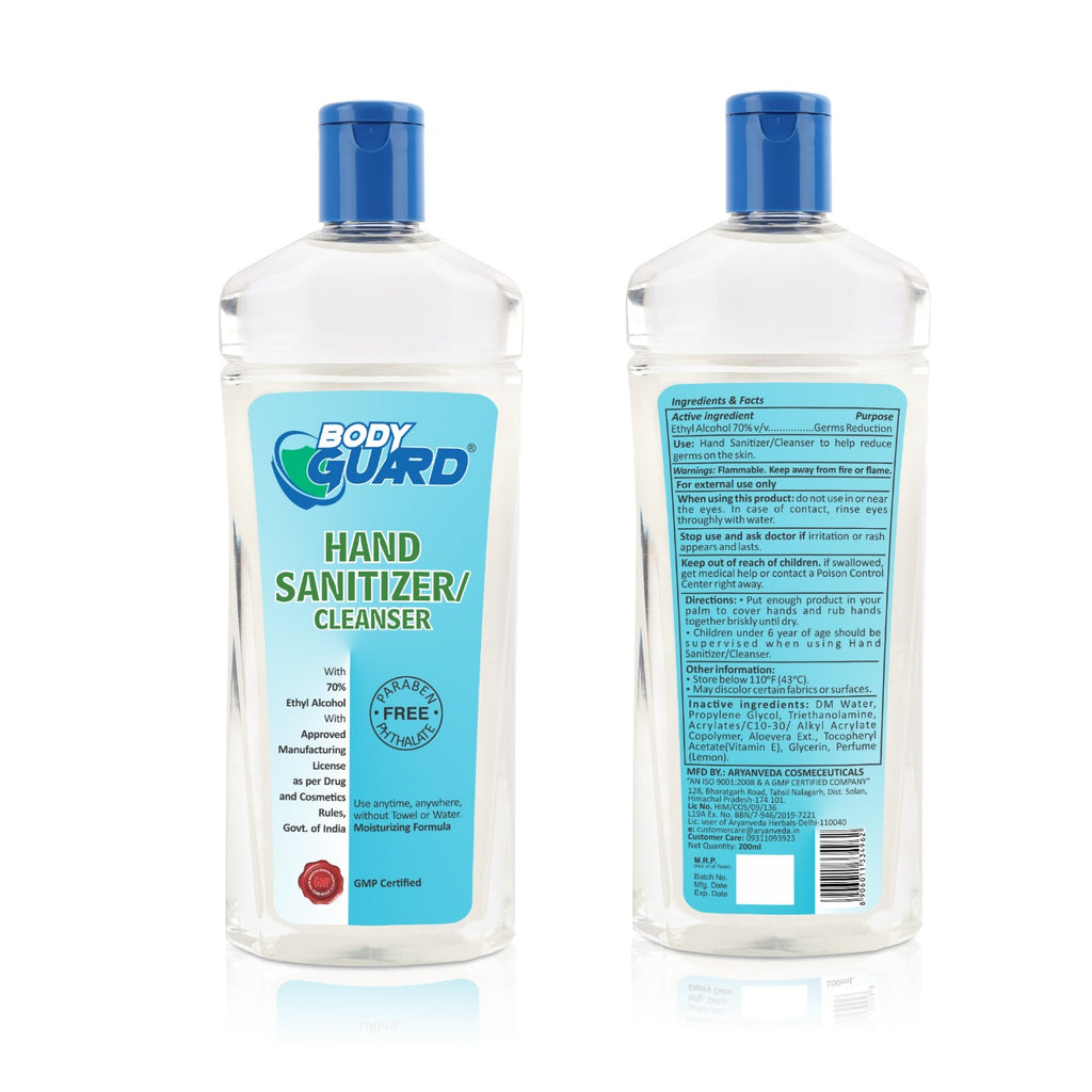 Hand Sanitizer 200ml , Kills 99.99% Germs