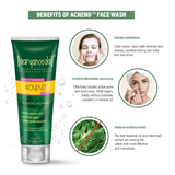 Acnend® face wash + Acnend® Cream Combo Pack - Ayurvedic & Natural- No Parabens, Sulphate, Silicones & Color -For Acne Free Skin