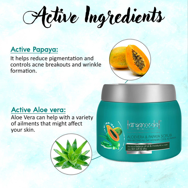 Aloevera & Papaya Scrub 400gm (Pack of 3)