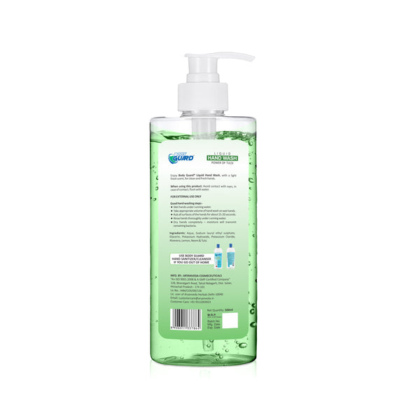 BODY GUARD HAND WASH TRANSPARENT WITH PUMP 500ml