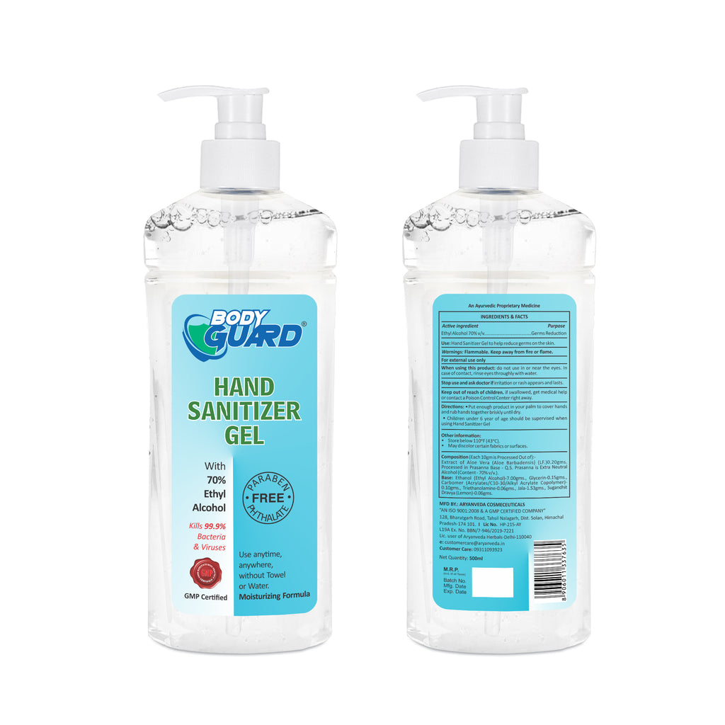 Hand Sanitizer Gel  500ml, Kills 99.99% Germs