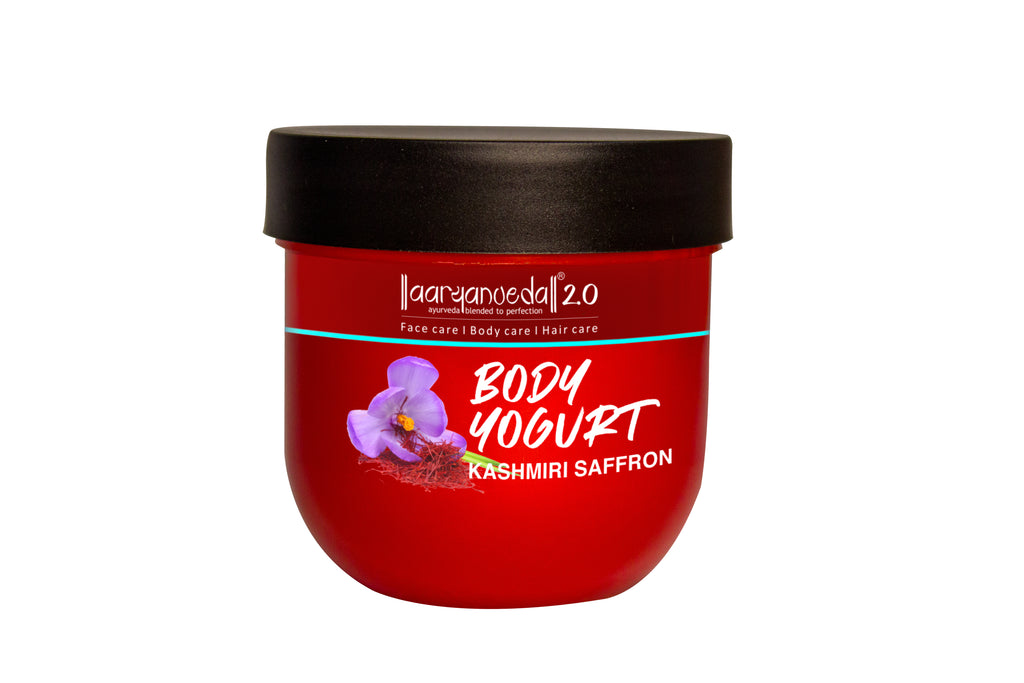 Body Yogurt Kashmiri Saffron - 200ml , Normal to Oily Skin, Paraben & Mineral Oil Free, new, lightweight formula absorbs instantly and provides up to 48 hours of moisture