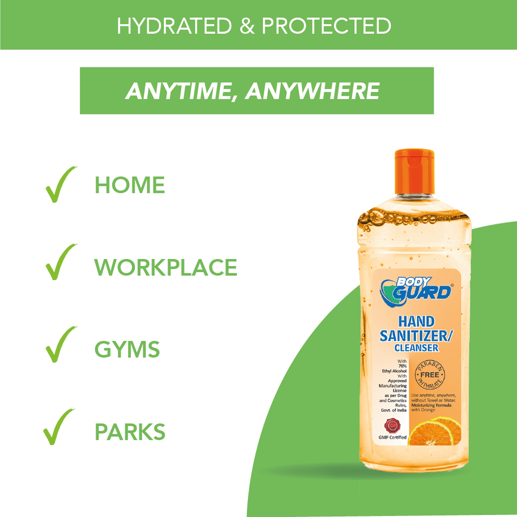Orange Hand Sanitizer Gel 500ml  | Kills 99.99% Germs
