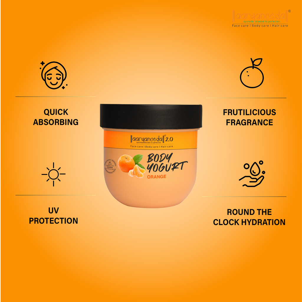 Body Yogurt Orange, Normal to Oily Skin, Paraben & Mineral Oil Free, new, lightweight formula absorbs instantly and provides up to 48 hours of moisture