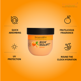 Body Yogurt Orange - 200ml ,Normal to Oily Skin, Paraben & Mineral Oil Free, new, lightweight formula absorbs instantly and provides up to 48 hours of moisture