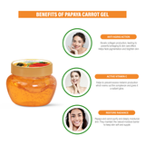Papaya carrot gel -100gm  Ayurvedic & Natural- No Parabens, Sulphate, Silicones & Color