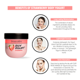 Body Yogurt Strawberry - 200ml , Normal to Oily Skin, Paraben & Mineral Oil Free, new, lightweight formula absorbs instantly and provides up to 48 hours of moisture