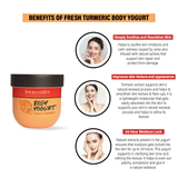 Body Yogurt Turmeric - 200ml ,Normal to Oily Skin, Paraben & Mineral Oil Free, new, lightweight formula absorbs instantly and provides up to 48 hours of moisture