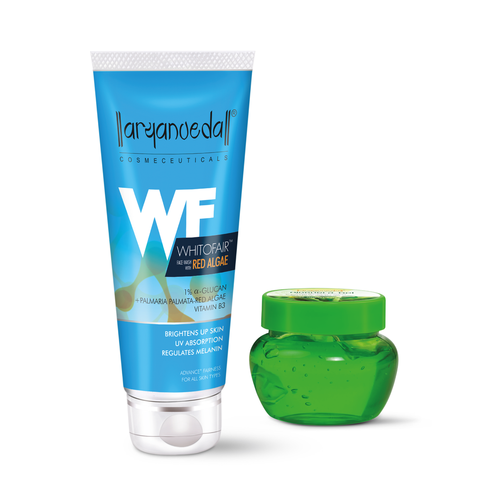 Aloevera Gel And Whitofair Face wash Combo Pack For Brighten Glowing Skin