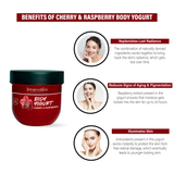 Body Yogurt Cherry & Respberry Berr -200ml , Normal to Oily Skin, Paraben & Mineral Oil Free, new, lightweight formula absorbs instantly and provides up to 48 hours of moisture