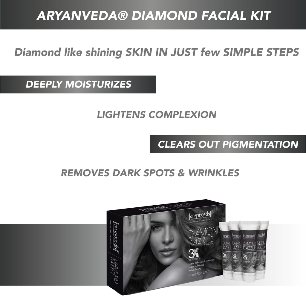 Diamond Kit with free gift (AY) 55gm, Removes the tan and blackheads and also helps to improve the dull complexion (Paraben & Sulphate Free) - for All Skin Types, No Harmful Chemicals
