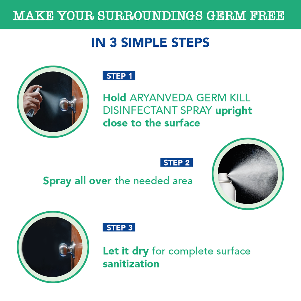 Germ Kill Disinfectant Spray -100ml, Safe on Skin, Safe on Surfaces , Kills 99.99% Bacteria & Viruses