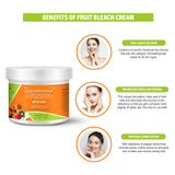 Fruit Bleach Cream - 250gm Herbal & Natural- No Harmful Chemicals - enriched with rich vitamins and Mix fruit extracts to lighten the color of facial hair