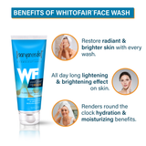 Whitofair face wash + Whitofair cream with SPF50 Combo Pack - Ayurvedic & Natural- No Parabens, Sulphate, Silicones & Color -For Brighten Skin