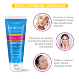 Wrinklend Sleeping Mask - 60ml  Ayurvedic & Natural- No Parabens, Sulphate, Silicones & Color -For Wrinkle Free Skin